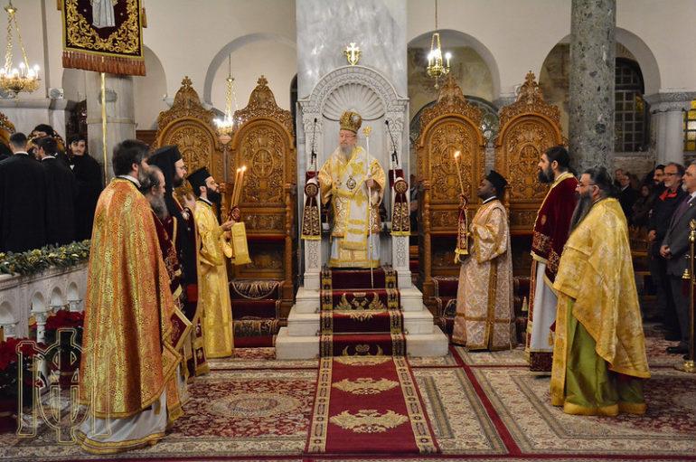Ο εορτασμός των Χριστουγέννων στην Ι. Μητρόπολη Θεσσαλονίκης