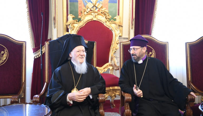 Ευχές του Οικ. Πατριάρχη στον νεοεκλεγέντα Αρμένιο Πατριάρχη στην Τουρκία