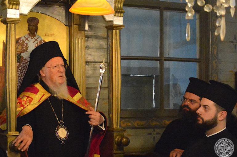 Ο Οικ. Πατριάρχης στην Ι. Πατριαρχική Σκήτη του Αγίου Σπυρίδωνος στη Χάλκη