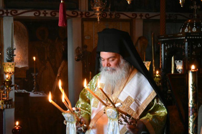 Ο Μητροπολίτης Ανδριανουπόλεως στην Ι. Μονή Προφήτη Ηλία Ερυθρών