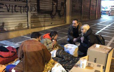 """Η Έλενα Ράπτη με την """"ΑΠΟΣΤΟΛΗ"""" στους άστεγους της Αθήνας"""