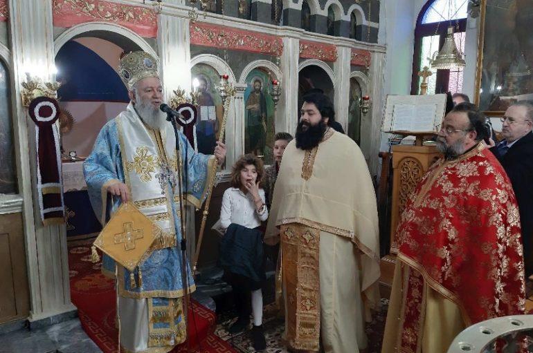 Ο Μητροπολίτης Χαλκίδος Χρυσόστομος στην Βόρεια Εύβοια