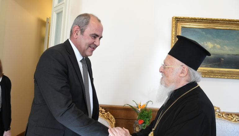 Ο Υφυπουργός Παιδείας και Θρησκευμάτων της Ελλάδος στο Οικ. Πατριαρχείο