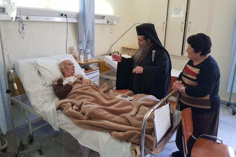 Ο Χίου Μάρκος κοντά στους ασθενείς