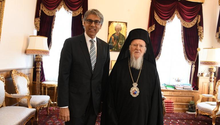 Ο Πρέσβης του Καναδά στην Άγκυρα στο Οικουμενικό Πατριαρχείο