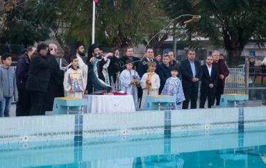 Η κατάδυση του Τιμίου Σταυρού στο Κολυμβητήριο Καλαμάτας