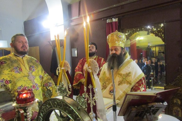 O Επίσκοπος Κεγχρεών στον Ι. Ναό Μεταμορφώσεως του Σωτήρος Κορίνθου