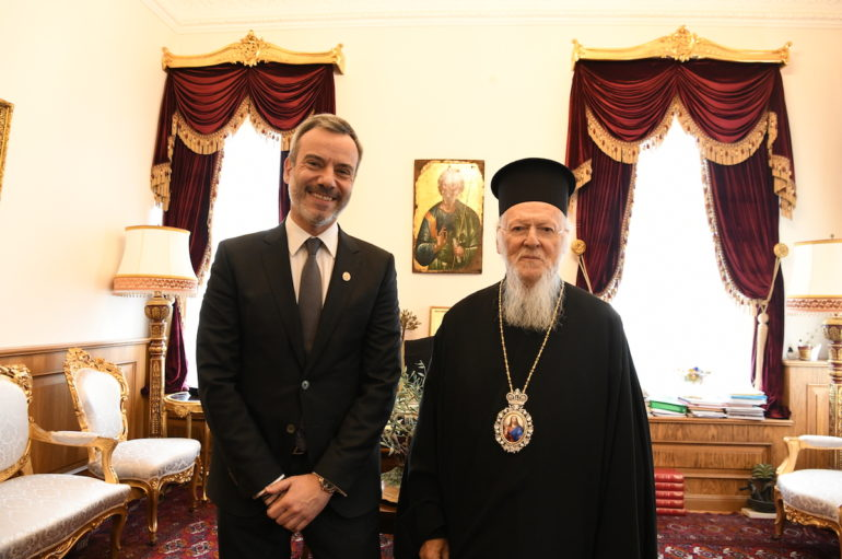 O Δήμαρχος Θεσσαλονικέων Κωνσταντίνος Ζέρβας στο Οικ. Πατριαρχείο