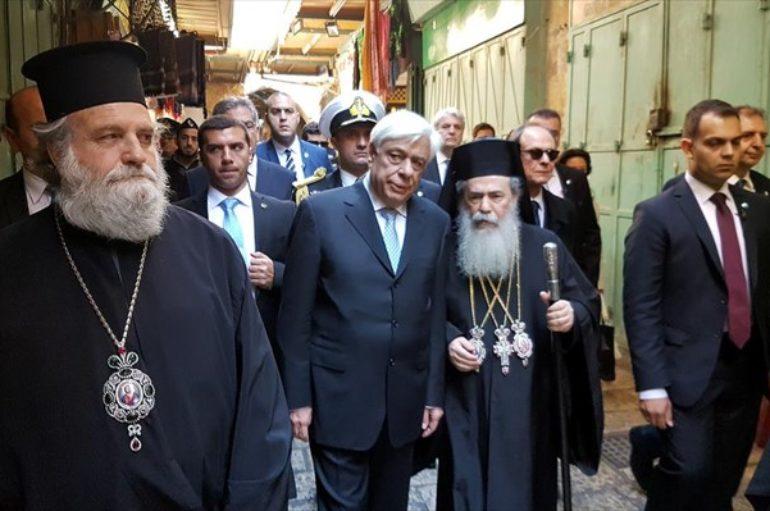 Συνάντηση του Προέδρου της Δημοκρατίας με τον Πατριάρχη Ιεροσολύμων