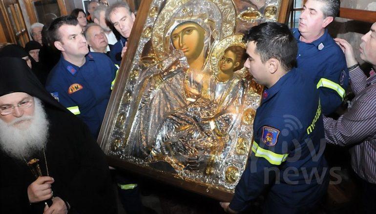 Την Παναγία Παραμυθία υποδέχθηκε η Ι. Μονή Ρουσάνου Μετεώρων