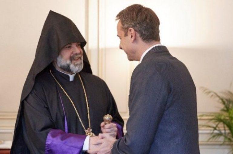 Συνάντηση Μητσοτάκη με τον Μητροπολίτη Ορθοδόξων Αρμενίων Ελλάδος