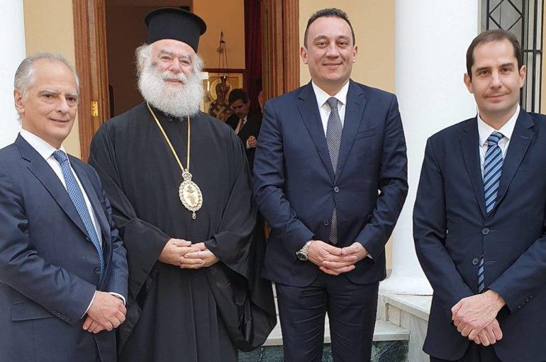 Ο ΥΦΥΠΕΞ Κώστας Βλάσης στον Πατριάρχη Αλεξανδρείας Θεόδωρο