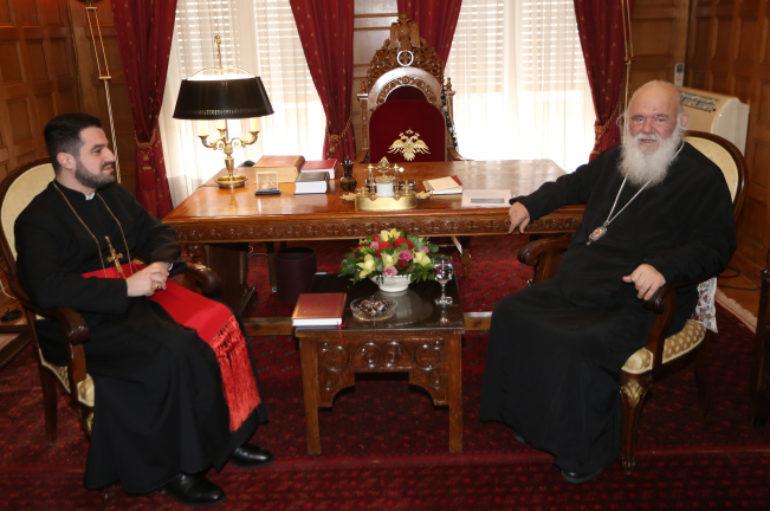 Ο Αρχ. Ευρώπης της Ασσυριακής Εκκλησίας στον Αρχιεπίσκοπο Ιερώνυμο