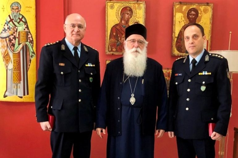 Στον Μητροπολίτη Δημητριάδος ο νέος Αστυνομικός Δ/ντης Μαγνησίας