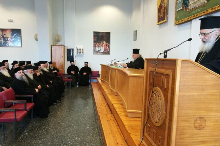 Ο Μητροπολίτης Καισαριανής σε Ιερατική Σύναξη στην Ι. Μ. Εδέσσης