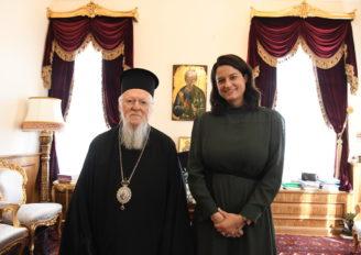 Η Υπουργός Παιδείας Νίκη Κεραμέως στο Οικουμενικό Πατριαρχείο