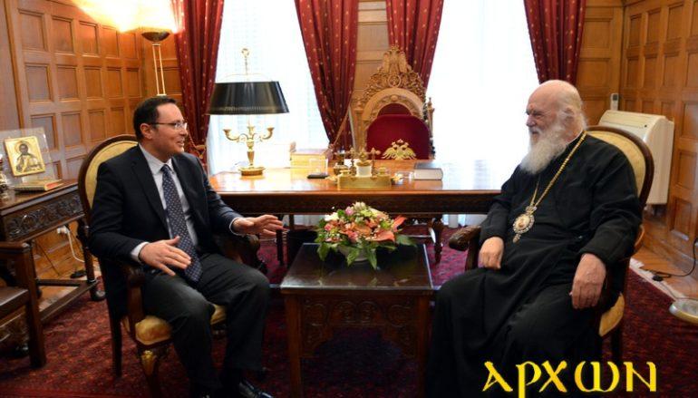 Στον Αρχιεπίσκοπο ο Γεν. Γραμμ. Δημόσιας Διπλωματίας Θρησκευτικών Υποθέσεων