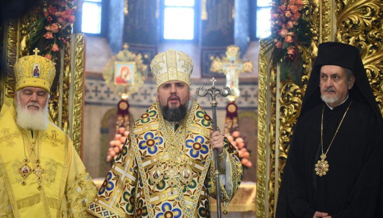 Ο Μητροπολίτης Γαλλίας Εμμανουήλ στο Κίεβο