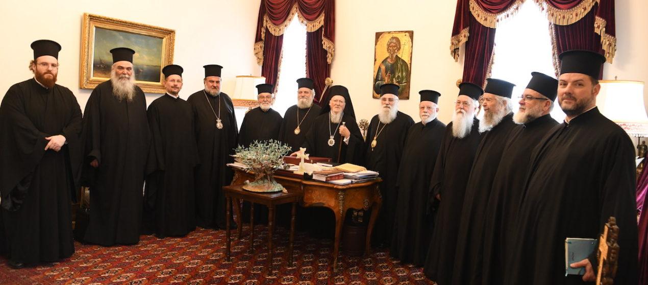 Αντιπροσωπεία του Πατριαρχείου Ιεροσολύμων στο Οικουμενικό Πατριαρχείο