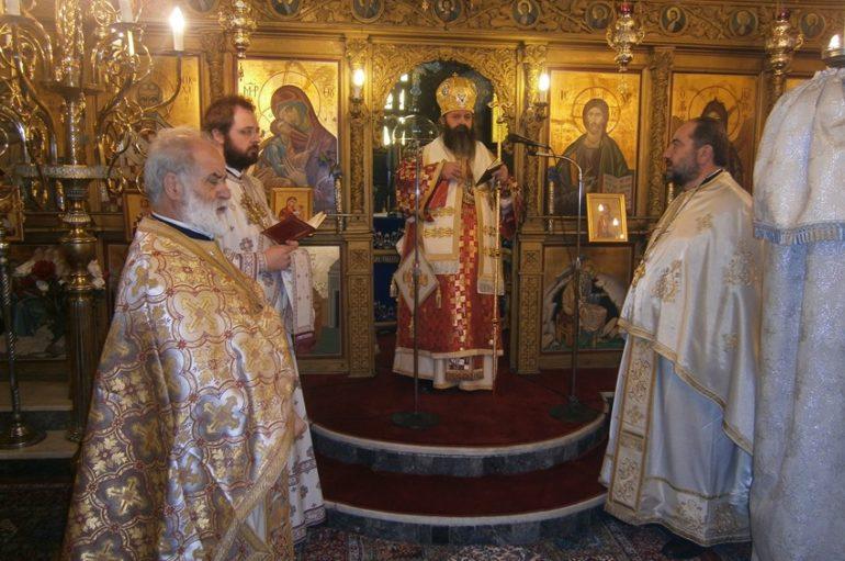 Ο Επίσκοπος Κεγχρεών στον Άγιο Νικόλαο Γελινιατίκων Κορινθίας