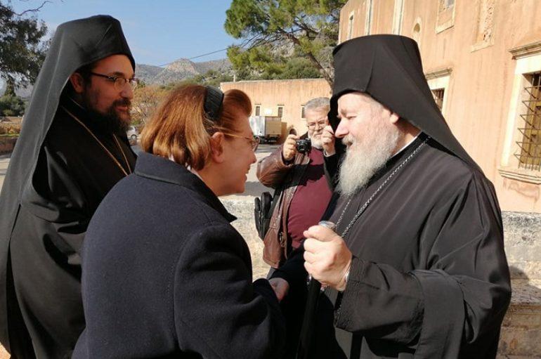 Η Υπουργός Πολιτισμού στην Ι. Μονή Τζαγκαρόλων Κρήτης