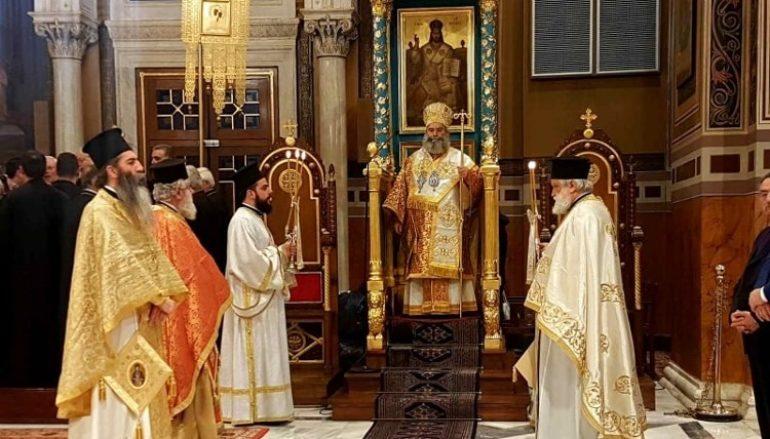 Ο Μητροπολίτης Μάνης Χρυσόστομος στον Καθεδρικό Ναό των Αθηνών