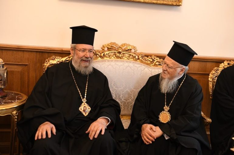 Ο Αρχιεπίσκοπος Κύπρου στο Οικουμενικό Πατριαρχείο