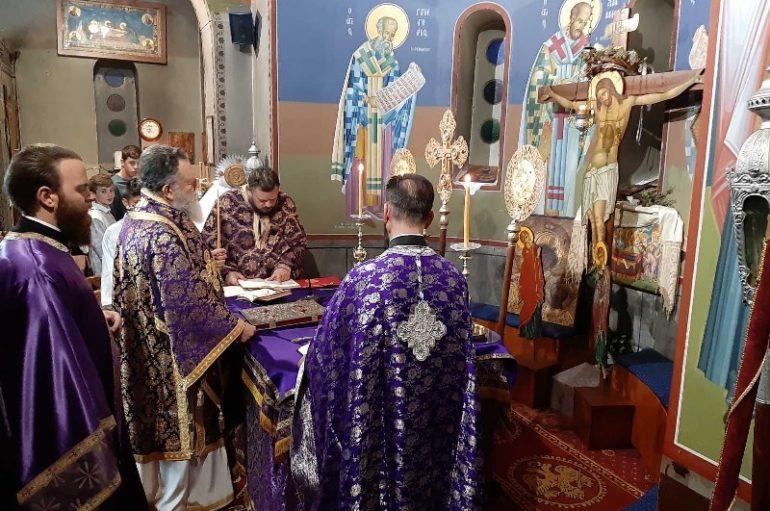 Προηγιασμένη Θ. Λειτουργία στην Ι. Μητρόπολη Χαλκίδος