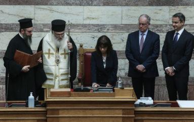 Ο Αρχιεπίσκοπος στην ορκομωσία της νέας Προέδρου της Δημοκρατίας