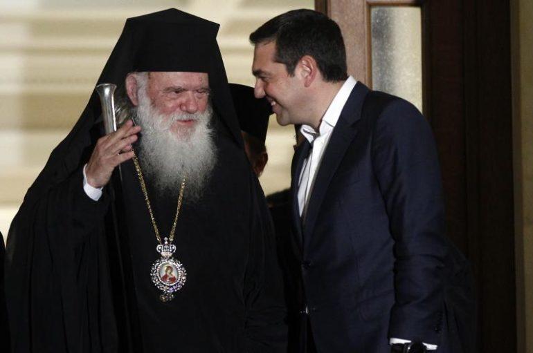 Ο Τσίπρας ενθάρρυνε τον Αρχιεπίσκοπο να λάβει πρωτοβουλίες