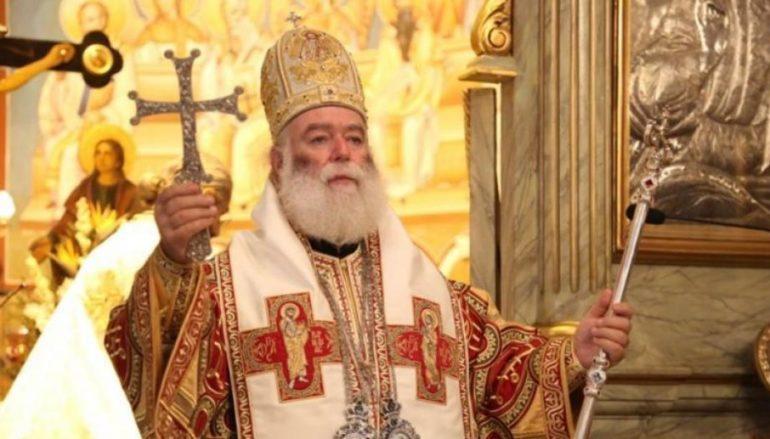 Ο Πατριάρχης Αλεξανδρείας ψάλλει τον Εθνικό μας Ύμνο