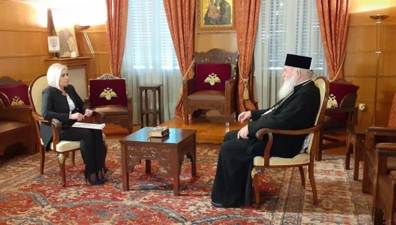 Επίκαιρη συνέντευξη του Αρχιεπισκόπου Ιερωνύμου στον ANT1