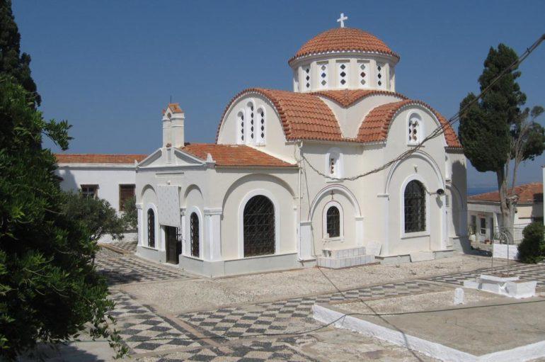Ο Μητροπολίτης Χίου Μάρκος στο Μοναστήρι της Σφαγής