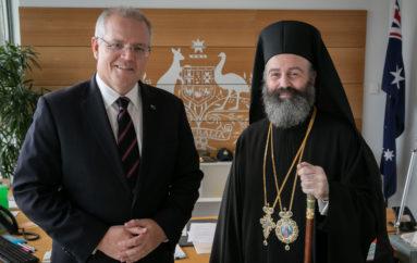 Ο Αρχιεπίσκοπος Μακάριος ευχαρίστησε τον Πρωθυπουργό της Αυστραλίας