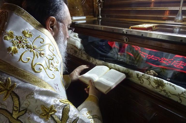 Εορτή του Οσίου Παταπίου και του Αγίου Γεωργίου στην Ι. Μ. Κορίνθου