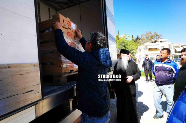 Επισιτιστική βοήθεια της Περιφέρειας Πελοποννήσου στην Ι. Μ. Αργολίδος