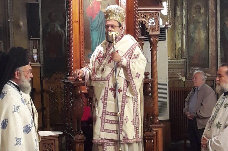 Ο Μητροπολίτης Μεσσηνίας Χρυσόστομος στον Άγιο Γεώργιο Καλαμάτας
