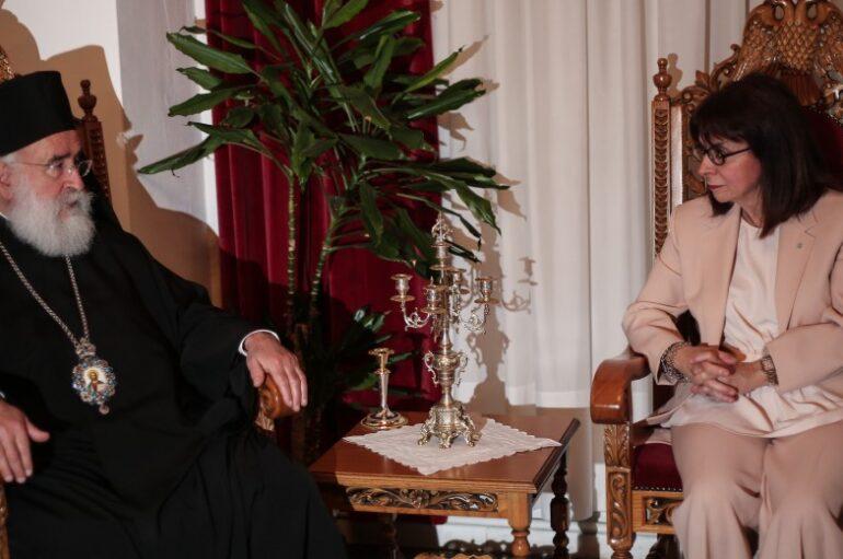Συνάντηση της Προέδρου της Δημοκρατίας με τον Μητροπολίτη Ξάνθης