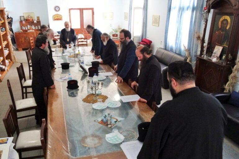 Ιερατική Σύναξη στην Ιερά Μητρόπολη Λέρου