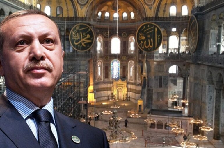 """Ερντογάν: """"Δικαίωμα της Άλωσης η μετατροπή της Αγιάς Σοφιάς σε τζαμί"""""""