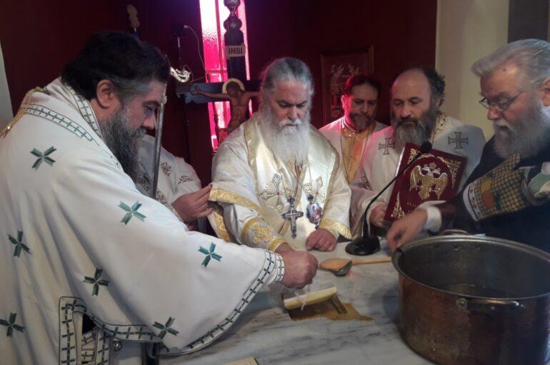 Τα πρώτα εγκαίνια Ναού από τον Μητροπολίτη Καλαβρύτων Ιερώνυμο