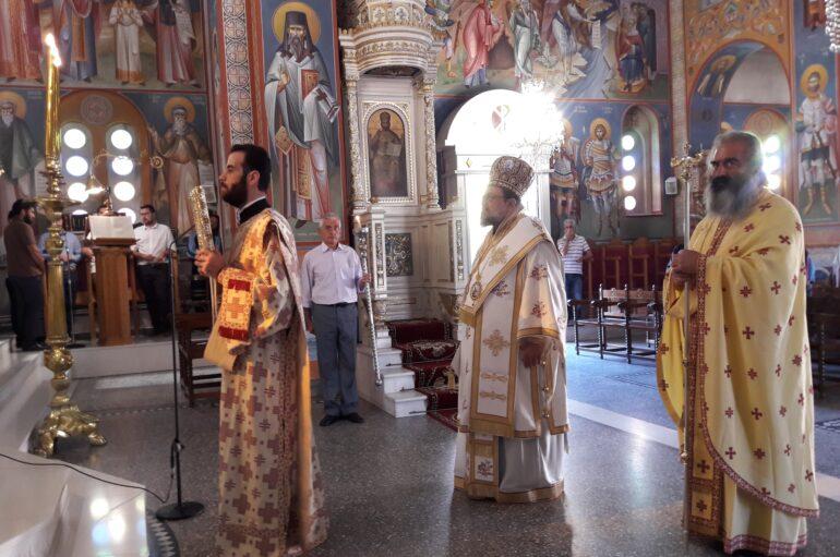 Ο Μητροπολίτης Μεσσηνίας Χρυσόστομος στον Άγιο Ιωάννη Μεσσήνης