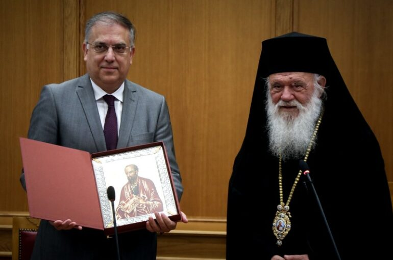 Ο Υπουργός Εσωτερικών επισκέφθηκε την Ιερά Σύνοδο