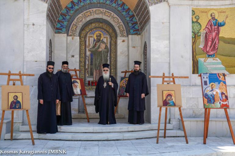 Yπαίθρια έκθεση της Σχολής Βυζαντινών Τεχνών της Ι. Μ. Βεροίας