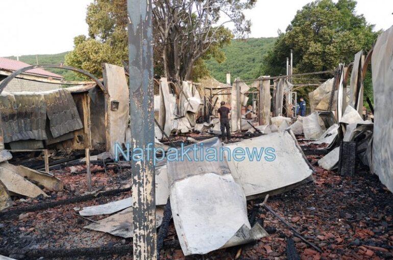 Εικόνες από την Μονή Βαρνάκοβας μετά την καταστροφική πυρκαγιά
