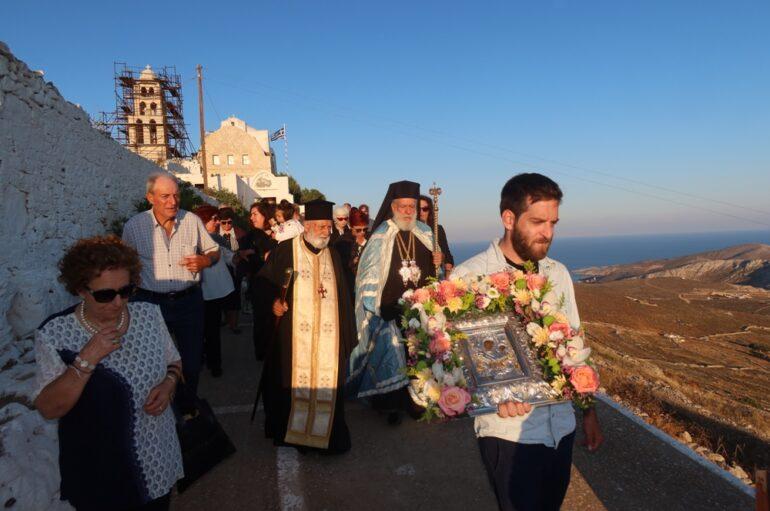 Η εορτή της Παναγίας Μαγιάτισσας στη Φολέγανδρο