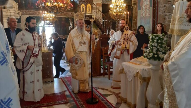 Κυριακή των Αγίων Πατέρων στην Ιερά Μητρόπολη Χαλκίδος