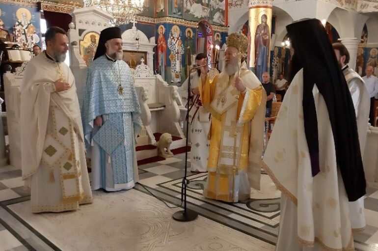 Ο Μητροπολίτης Χαλκίδος στο Ι. Προσκύνημα του Οσίου Ιωάννου του Ρώσσου