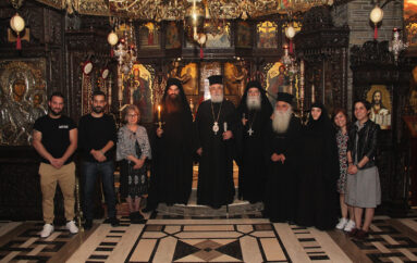 Χειροθεσία μεγαλόσχημων μοναχών στην Ιερά Μονή Τρικόρφου