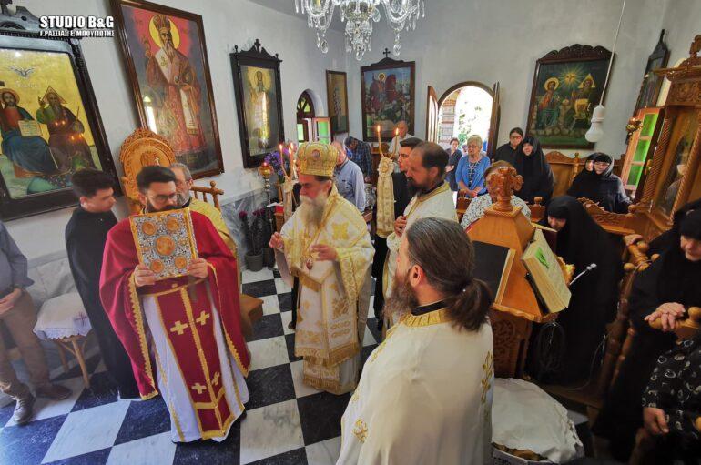 Ο Μητροπολίτης Άρτης στην Ιερά Μονή Αγίου Θεοδοσίου Αργολίδος